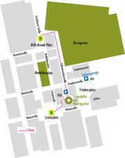 Lageplan Logopädie am Herrngarten